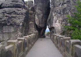Bastei brug een prachtige rotsformatie.