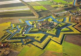 Bourtange het vestingdorp in Groningen