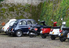 4 uur vintage Fiat 500 of Vespa excursie Florence Toscane Italië