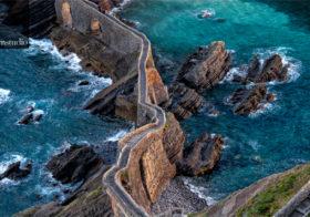 Gaztelugatxe eiland in de golf van Biskaje