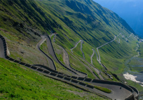 Transfagarasan highway in Roemenië