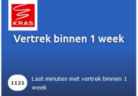 KRAS last-minute binnen 7 dagen