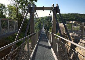 Spannende wandeling over de langste hangbrug in Duitsland