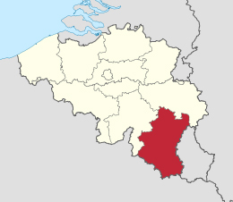 map provincie luxemburg