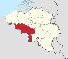 map henegouwen