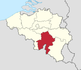 map namen belgie