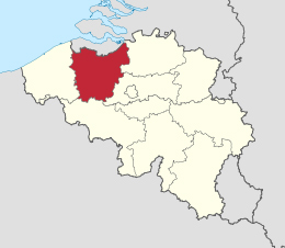 map Oost-Vlaanderen