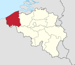 map West-Vlaanderen