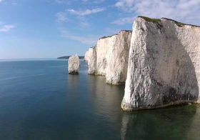 Old Harry Rocks onderdeel zuidelijke kustlijn