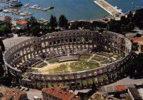 Pula op schiereiland Istrië