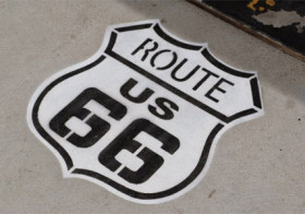 Route 66 met motor of met auto