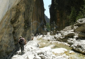 Samaria kloof op Kreta, de smalste ter wereld.