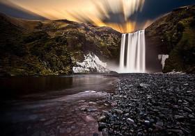 Skógafoss de bekendste waterval op IJsland