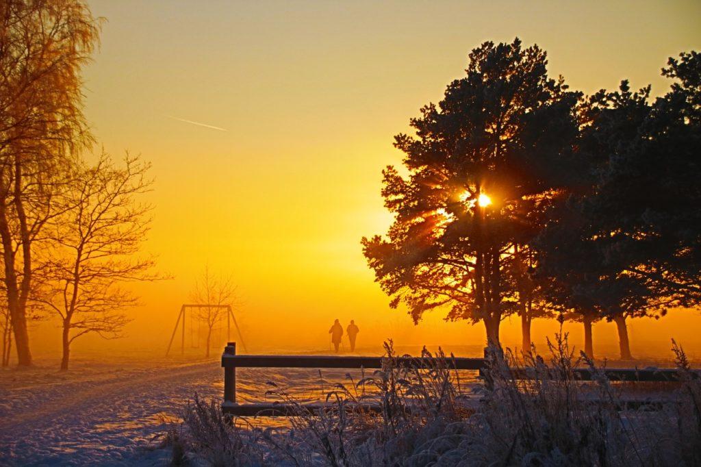 sunset in Estland