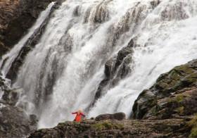 Kjosfossen waterval in Noorwegen