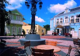 Willemstad  de hoofdstad van Curaçao